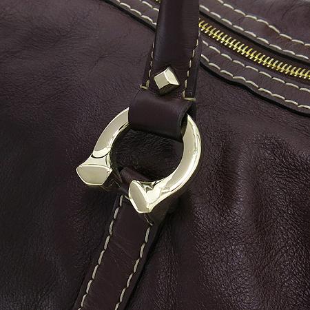 Gucci(구찌) 189892 브라운 레더 볼링 토트백