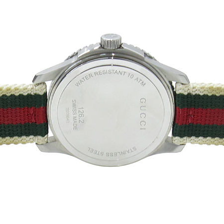 Gucci(구찌) YA126231 G-TIMELESS 스포츠 라인 삼색 나토 밴드 쿼츠 남성용 시계