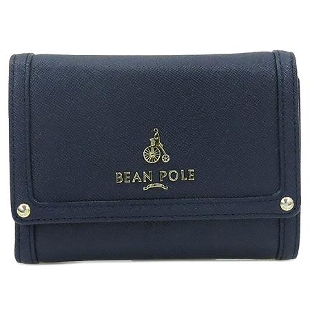 Bean Pole(빈폴) BE0ZA4402U 금장 로고 장식 여성용 중지갑
