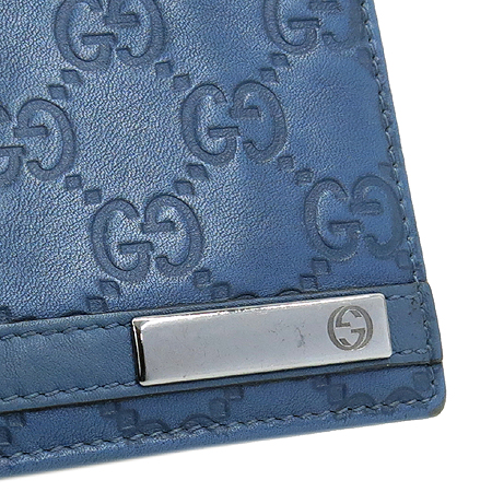 Gucci(구찌) 233100 GG 로고 시마 레더 메탈 바 장식 반지갑