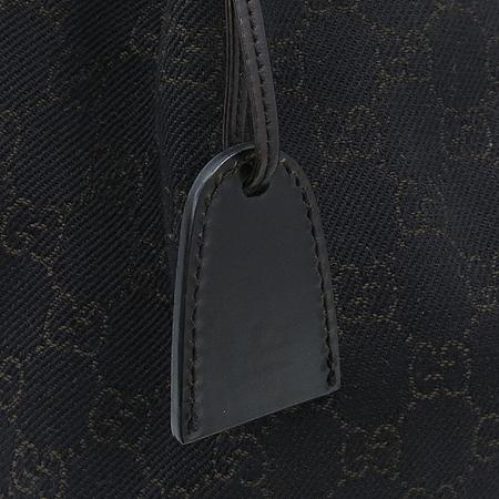 Gucci(구찌) 101919 GG로고 자가드 블랙 레더 혼방 토트백 + 보조파우치