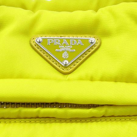 Prada(프라다) BN2771 TESSUTO BOMBER 옐로우 사피아노 레더 트리밍 패브릭 토트백+숄더 스트랩 [동대문점]