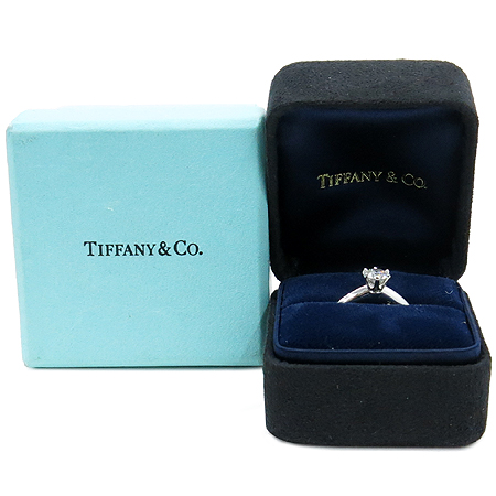 Tiffany(티파니) PT950 0.49CT 1포인트다이아 F컬러 IF 클래리티 웨딩 밴드 반지