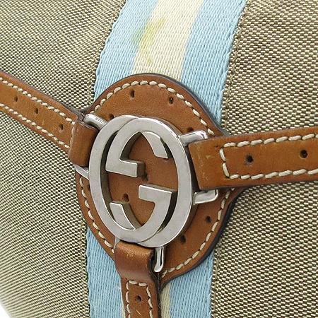 Gucci(구찌) 114869 은장 GG 로고 삼색 스티치 패브릭 호보 숄더백