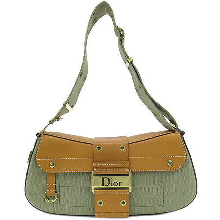 Dior(크리스챤디올) 금장 로고 벨트 장식 숄더백