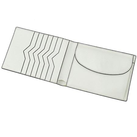 VALEXTRA(발렉스트라) 화이트레더 7크레딧카드 반지갑