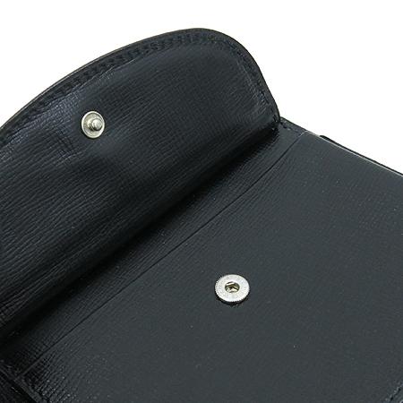 VALEXTRA(발렉스트라) 블랙레더 7크레딧카드 반지갑