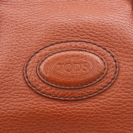 Tod's(토즈) 오렌지 레더 로고 스탬핑 쇼퍼 2WAY