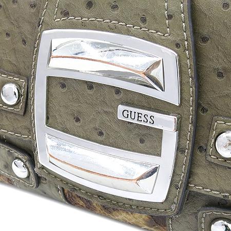 Guess(게스) 오스트리치 패턴 레더 은장 로고 장식 숄더백
