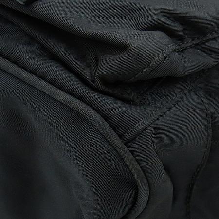Prada(프라다) BZ2811 블랙 패브릭 삼각로고 투 포켓 백팩