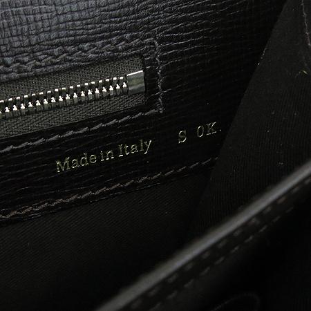 VALEXTRA(발렉스트라) compartment briefcase 다크브라운레더 은장 락 장식 서류 토트백
