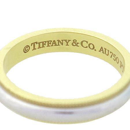 Tiffany(티파니) PT950(플래티늄)+18K 골드 콤비 밀그레인 3MM 반지-8호 [명동매장] 이미지4 - 고이비토 중고명품