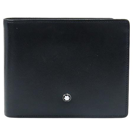 Montblanc(몽블랑) 30600 스타 로고 블랙 레더 반지갑 [명동매장]