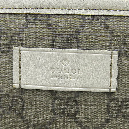 Gucci(구찌) 211138 GG로고 PVC 화이트레더 트리밍 쇼퍼 숄더백 이미지4 - 고이비토 중고명품