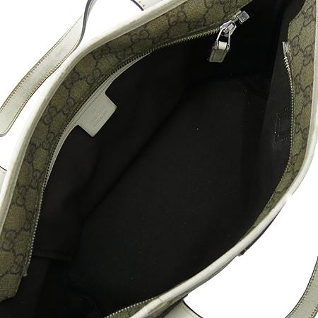 Gucci(구찌) 211138 GG로고 PVC 화이트레더 트리밍 쇼퍼 숄더백 이미지6 - 고이비토 중고명품