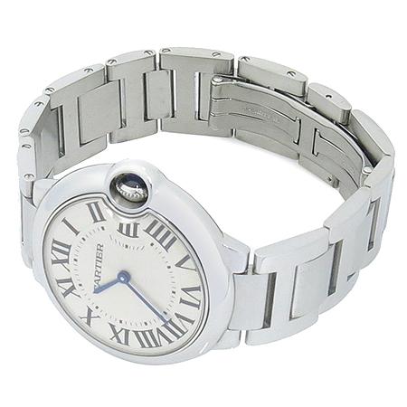 Cartier(까르띠에) W69011Z4 BALLON BLEU (발롱블루) M 사이즈 쿼츠 스틸밴드 남여공용 시계 이미지2 - 고이비토 중고명품