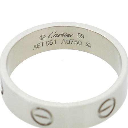 Cartier(까르띠에) B4084700 18K 화이트 골드 러브링 반지 - 19호(59)