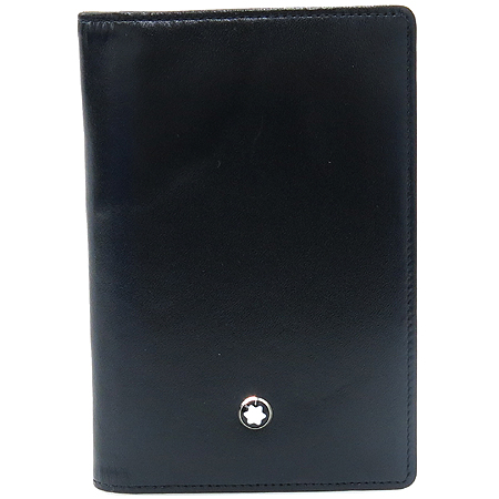 Montblanc(몽블랑) 14108 블랙 레더 카드 겸 명함지갑