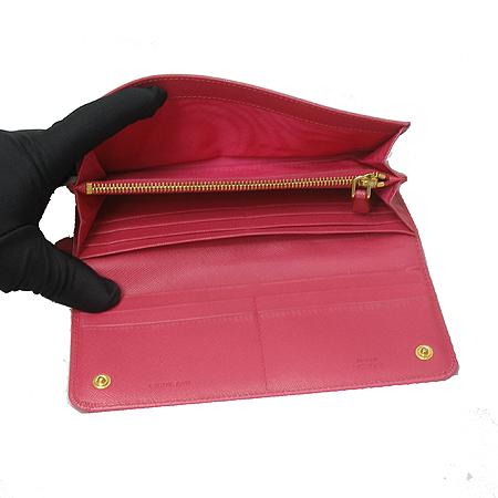 Prada(프라다) 1M1132 SAFFIANO METAL 핑크 사피아노 금장로고 장지갑 [잠실매장]