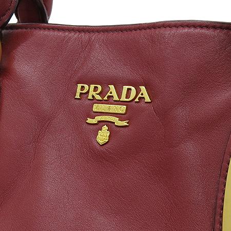 Prada(프라다) BN1902 SOFT CALF 소프트 카프스킨 레드 금장로고 2WAY 이미지3 - 고이비토 중고명품