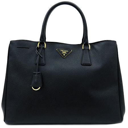 Prada(프라다) BN1844 블랙 사피아노 럭스 금장 로고 토트백 [명동매장] 이미지2 - 고이비토 중고명품