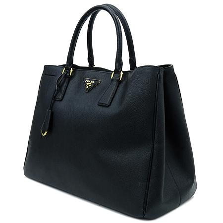 Prada(프라다) BN1844 블랙 사피아노 럭스 금장 로고 토트백 [명동매장] 이미지3 - 고이비토 중고명품