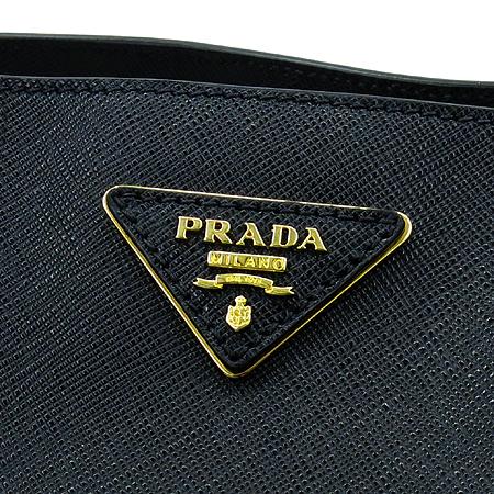 Prada(프라다) BN1844 블랙 사피아노 럭스 금장 로고 토트백 [명동매장] 이미지5 - 고이비토 중고명품