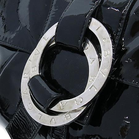 Bvlgari(불가리) 블랙 페이던트 은장 BB로고 장식 찬드라 클러치백