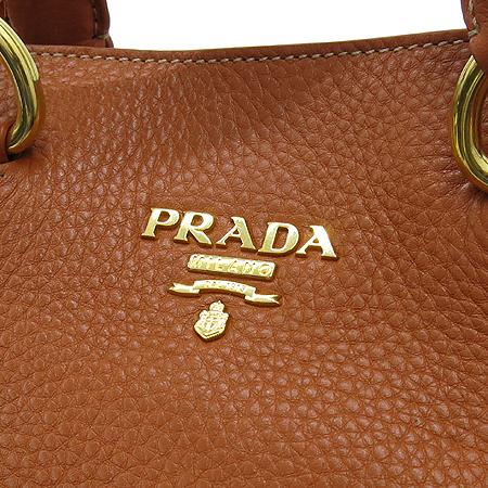 Prada(프라다) BN1713 골드 메탈 로고 VIT.DAINO 소프트카프스킨 레더 토트백 + 숄더스트랩