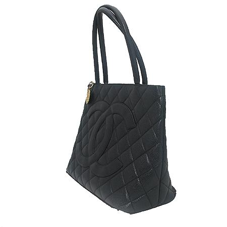 Chanel(샤넬) A01804Y01588 캐비어 스킨 블랙 금장 코인 토트백 [분당매장]