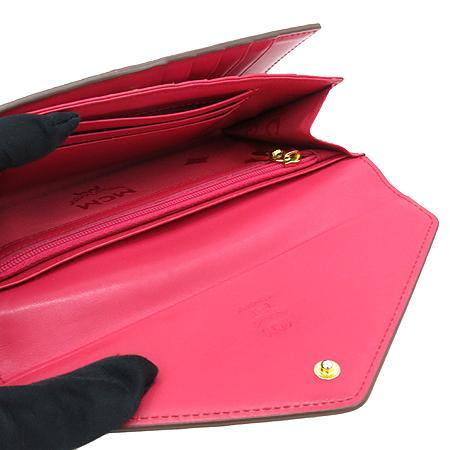 MCM(엠씨엠) MYL2SXL50PK001 핑크 레더 금장 로고 장지갑