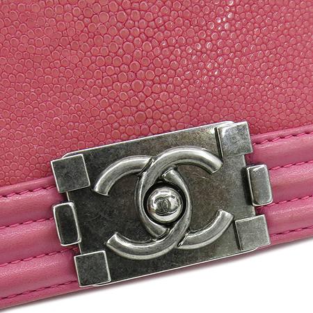 Chanel(샤넬) A66230 크루즈 라인 보이 샤넬 Galuchat(가오리) 램스킨 레더 S 사이즈(미니) 빈티지 메탈 체인 숄더백