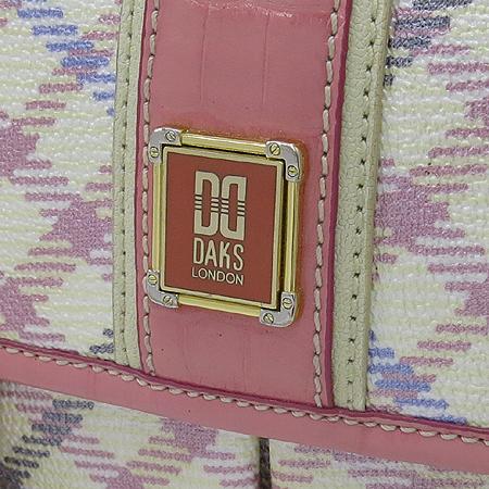 DAKS(닥스) 클래식 PVC 크로커다일 패턴 레더 크로스백 + 숄더스트랩