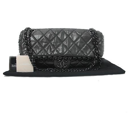 Chanel(샤넬) 시즌 한정판 CHAIN ME(체인 미) 그레이 컬러 블랙 체인 숄더백