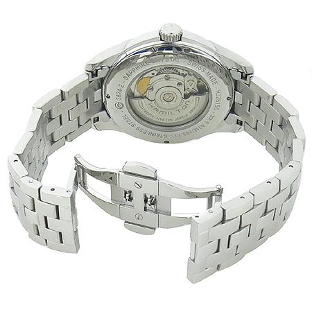 Hamilton(해밀턴) H325150 JAZZMASTER(재즈마스터) VIEWMATIC 시스루백 오토매틱 스틸 브레이슬릿 남성 시계