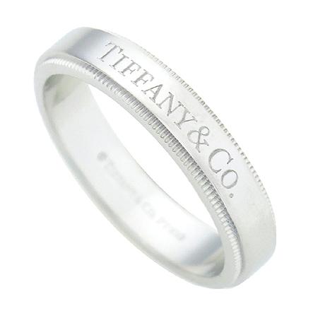 Tiffany(티파니) PT950 (플래티늄) 신형 밀그레인 엣지 4mm 밴드 반지