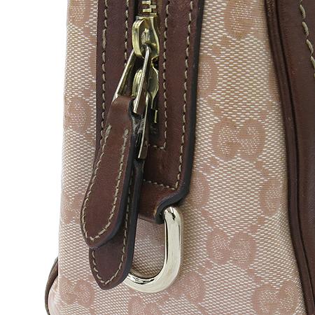 Gucci(구찌) 181487 GG 로고 에나멜 레더 스티치 보스톤 토트백