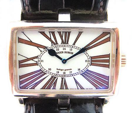 Roger Dubuis(로저드뷔) Lady's Rose Gold Too Much 18K(750) 로즈 골드 금통  수동 가죽 밴드 여성용 시계