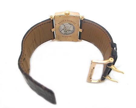 Roger Dubuis(로저드뷔) Lady's Rose Gold Too Much 18K(750) 로즈 골드 금통  수동 가죽 밴드 여성용 시계 이미지3 - 고이비토 중고명품