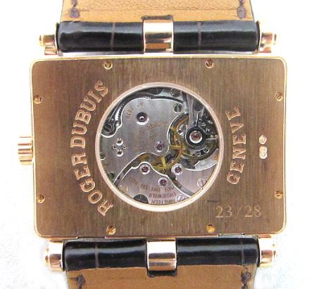 Roger Dubuis(로저드뷔) Lady's Rose Gold Too Much 18K(750) 로즈 골드 금통  수동 가죽 밴드 여성용 시계 이미지4 - 고이비토 중고명품