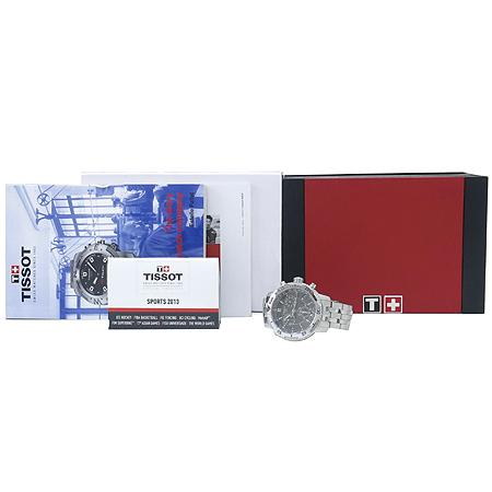 TISSOT(티쏘) PRS200 크로노그래프 블랙다이얼 스틸 남성용시계