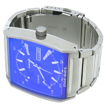 DIESEL(디젤) DZ-1251 DAY-DATE 스틸 브레이슬릿 43mm 남성 시계
