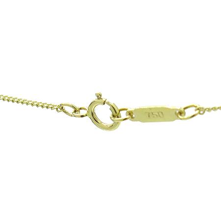 Tiffany(티파니) 18K 골드 1포인트 레드 사파이어 장식 팬던트 목걸이