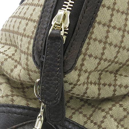 Gucci(구찌) 247286 자가드 브라운 레더 트리밍 금장 간치니 장식 토트백 + 숄더 스트랩 [동대문점]