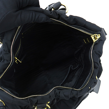 Prada(프라다) BN1336 블랙 패브릭 금장 로고 장식 고프레 2WAY