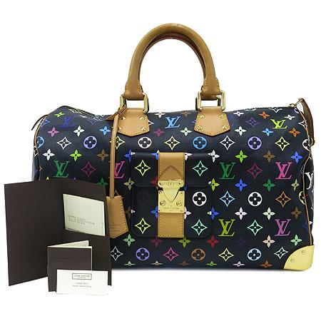 Louis Vuitton(루이비통) M93217 모노그램 멀티컬러 블랙 멀티스피디 40 토트백