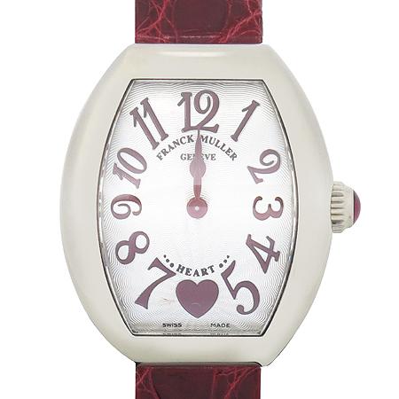 FRANCK MULLER(프랭크 뮬러) 002 S Heart to Heart Lady (하트 투 하트 레이디)18K 화이트골드 금통 악어 가죽 밴드 여성용 시계 [강남본점] 이미지2 - 고이비토 중고명품
