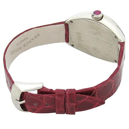 FRANCK MULLER(프랭크 뮬러) 002 S Heart to Heart Lady (하트 투 하트 레이디)18K 화이트골드 금통 악어 가죽 밴드 여성용 시계 [강남본점] 이미지4 - 고이비토 중고명품