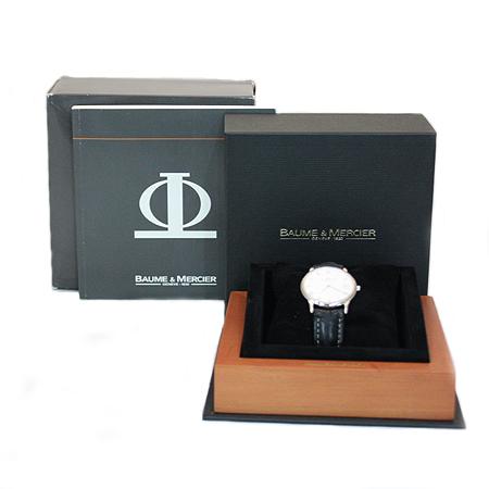 Baume&Mercier(보메메르시에) 8229 CLASSIMA(클래시마) 18K(750) 화이트골드 금통 쿼츠 가죽밴드 남성용 시계 [동대문점]