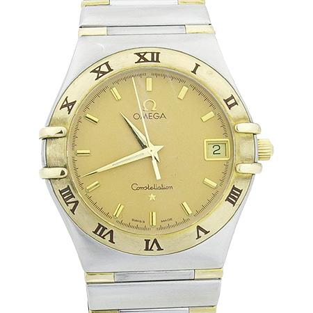Omega(오메가) 1372 10 18K 콤비 컨스틸레이션 하프바 쿼츠 남성용 시계
